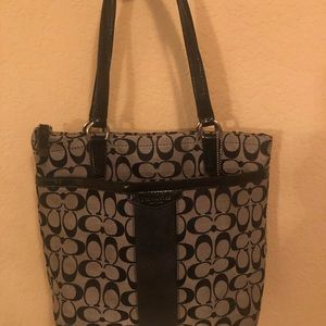 Coach black and Gray Laptop carry Satchel
